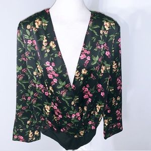 NWT Suitable For Work Floral Print Bodysuit